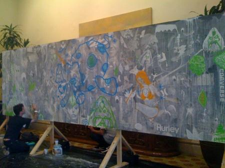 Hurley + Converse wall @ Agenda
